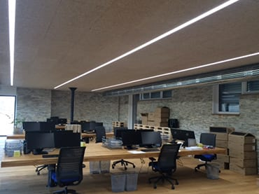 Baluer Leibnitz, Neubau Bürogebäude, KNX-Steuerung, Lichttechnik, Netzwerktechnik
